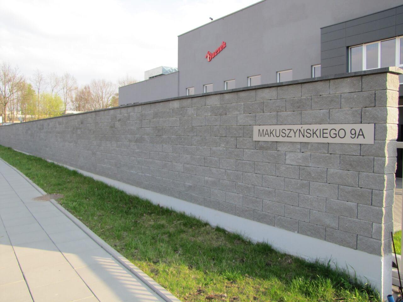 Ogrodzenie z bloczków betonowych Kraków